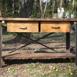 Vintage, houten werkbank