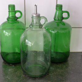 Groene flessen