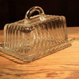 Glazen botervloot