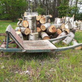 houten kruiwagen